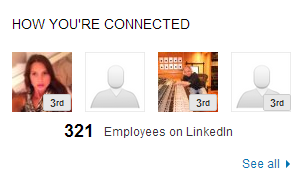 how to find employees of a company on linkedin